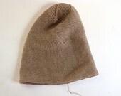 Beanie Hat, linen summer hat, Knitted Linen hat, linen hat, Unisex linen hat,
