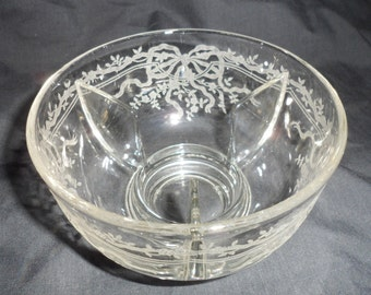Fostoria Clear Etched JUNE Ice Bowl