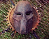 Cast Iron Steel Sculpture, Frankenstein Mask, Death Race