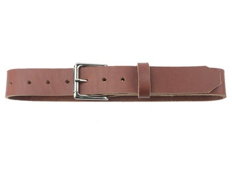 Leather Belt - Roller Buckle - Toffee - Made in the U.S.A. - TF-BLT-RLNP