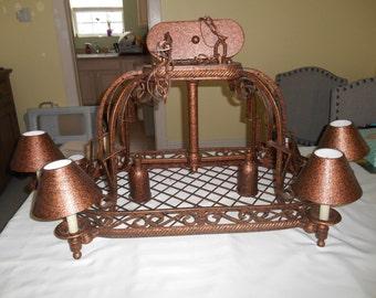 Iron Island Chandelier Ceiling Fixture 8 light candlestick