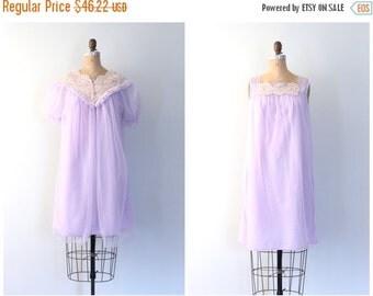 20% SALE 50s lilac chiffon nightie & peignoir set - 60s pastel dressing robe / Lavender - 60s sheer peignoir / Fairy Kei - vintage pin up li