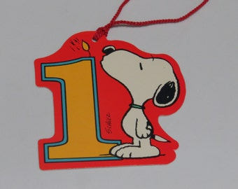 One Large Vintage Hallmark Snoopy Gift Tag Unused ~ 1 Year Old ~ and More!