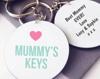 Mummy's Keys Keyring