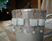 Amazonite and Blue Lace Agate Earrings
