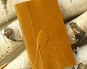 Embossed Bird ledger / Journal  Book Leather for birders list notebook