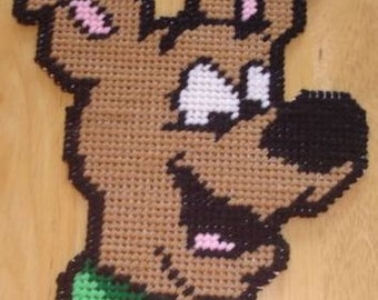 Baby Scooby Doo Head Plastic Canvas Pattern