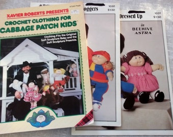 Vintage Cabbage Patch Dolls Knitting & Crochet patterns doll clothes