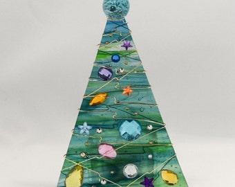 Sea Green Christmas Tree Votive
