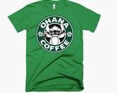 Disney World Ohana Coffee Shirt featuring Stitch in Starbucks inspired logo
