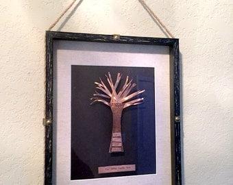tree wedding anniversary gift woven copper art home art husband gift ...