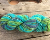Sudoeste, self-striping sock yarn with long colour changes