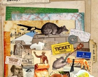 Art Journal Kit Escape for Art Journals Scrapbooks Tags Cards ACEO