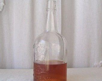 Antique Whiskey Bottle W H Jones and Co. Boston Whiskey Established 1851 Antique Bottle ca 1901