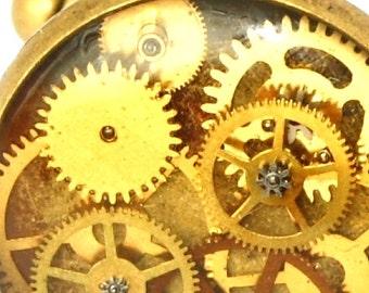Cog wheel cufflinks, Steampunk Cufflinks, cuff links, brass cufflinks, watchpart cufflinks, gifts for him, mens gifts, mens fashion,dad gift