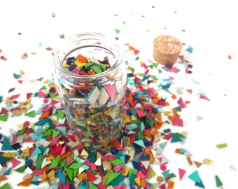 Recycled Leather Confetti | Party Decor | Geometric Confetti | Confetti Toss | Luxury Confetti | Table Decor | Confetti Jar | Upcycled