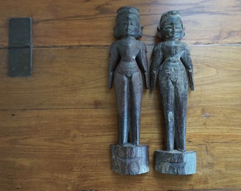 Wooden Dolls Maripatchi Male and Female Pair Festival Dolls Shipping Included in the Continental U.S.