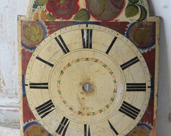 Antique French wooden clock face