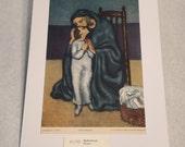 "1937 Art Print ""Motherhood"" by Pablo Picasso"