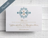 Vintage Save the Date Monogram Save the Date