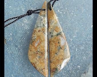 Ocean Jasper Earring Bead,36x10x4mm,4.3g
