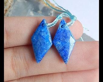 SALE,Lapis Lazuli Gemstone Earring,20x10x4mm,2.8g