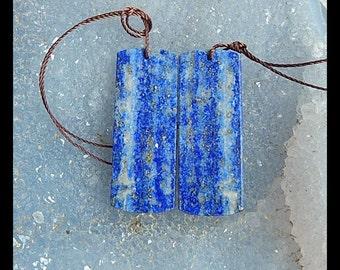 SALE,Lapis Lazuli Gemstone Earring,34x13x4mm,8.8g
