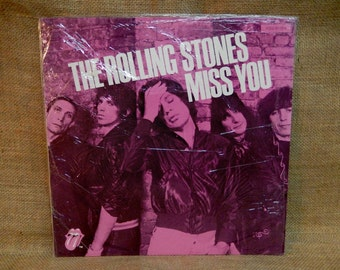 The ROLLING STONES - Miss You/Far Away Eyes - 1978 Vintage Vinyl Record Album...German Pressing