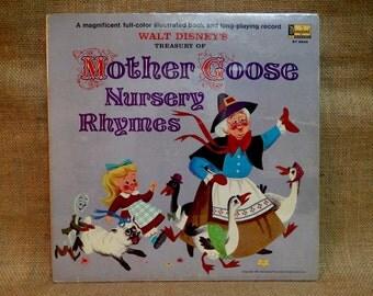 SEALed...Walt Disney's treasury of - MOTHER GOOSE NURSERY Rhymes - 1965 Vintage Vinyl Gatefold Record Album..Includes 11-page Book