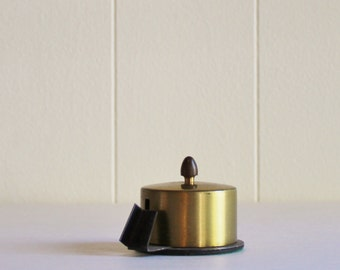 Vintage Brass  Stamp Roll Holder