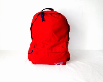red jansport style vintage 90s BACKPACK day pack