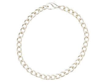 "25 Charm Bracelet Blanks 8"" DIY with Lobster Clasp H584x5"