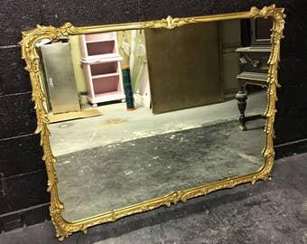 Large Vintage Gilded Mirror