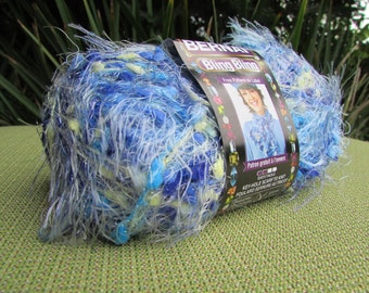 2 skeins Bernat Bling Bling Yarn in Brilliant Blue