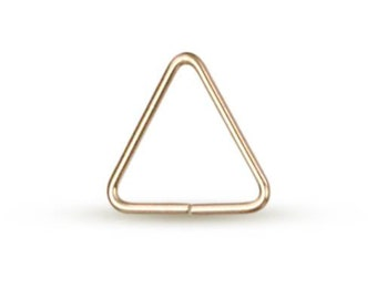 Jump Ring Open Triangle 14Kt Gold Filled 22ga 5mm  - 50pcs (10495)/1