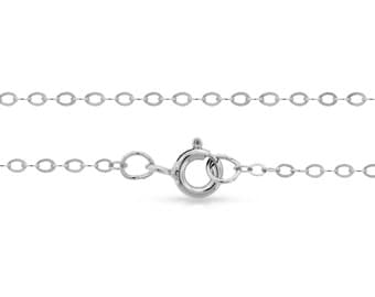 """Sterling Silver 2.2x1.6mm 36"""" Flat Cable Chain With Spring Ring Clasp - 1pc Made in USA 10% discounted lowest price (8086)/1"""