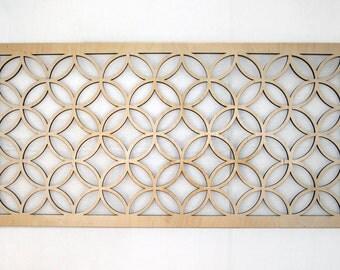 "24"" Interlocking Circles Diamonds Wall Art - Wood Home Decor"