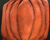 Harvest Pumpkin Wall Hanging - A wonderfully warm and nostalgic wall sculpture in a rustic and folk style