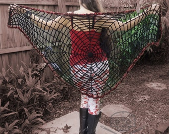 Halloween Web Shawl - Washable