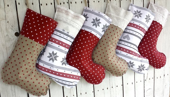 Family Christmas stockings, mix and match christmas stockings, nordic stockings, scadinavian stockings, swedish stockings