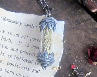 wiccan herbs Rosemary necklace Necklace witchcraft jewelry pagan wicca metaphysics magick occult witchy amulet