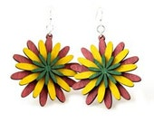 Petalled Layers - Wood Earrings - See Pictures for Color Choices