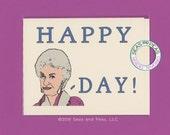 BEA ARTHUR BIRTHDAY - Birthday Card - Bea Arthur - Bea Arthur Card - Happy Bea Day - Funny Birthday Card - Funny Card - Birthday - Item B035