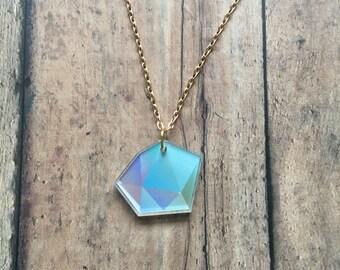 Blue pastel gem necklace