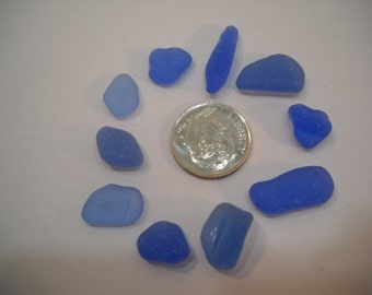 Genuine Cornflower Blue Sea Glass From Pacific Northwest