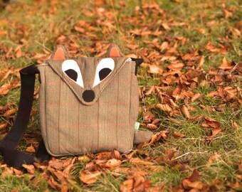 Little Plaid Fox  messenger  bag, cute bag, fall fashion
