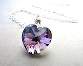Heart Necklace, Crystal Necklace, Love Necklace, Bridal Necklace, Gift for Her, Soulmate, Twinflame
