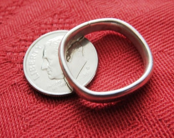 Finger Shape, Comfort Fit Heavy Sterling Band Ring, Size 7