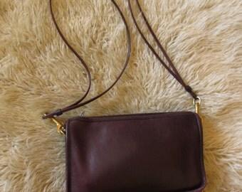 Vintage Coach Oxblood  Leather Purse Shoulder Bag