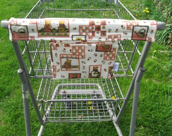 Shopping Cart Cover, Cart Handle Cover, Cart Cover, Shopping Cart Covers, Bear Print Cart Cover, Handy Cart Cover - Handy Cart Cover